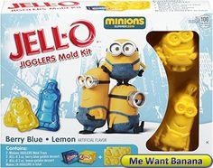 JELL-O Jigglers Mold Kit Minions 12 Ounce