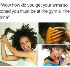 Just 22 Memes You'll Find Funny If You've Ever Had Hair Longer Than, Like, Three Inches Black People Memes, Funny Black Memes, Funny Relatable Memes, Black Jokes, Funny Posts, Natural Hair Memes, Natural Hair Care, Natural Hair Styles, Growing Up Black Memes