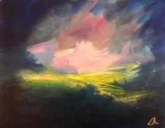 """Fair Haunt of Spring"" original fine art by David Kuhn"