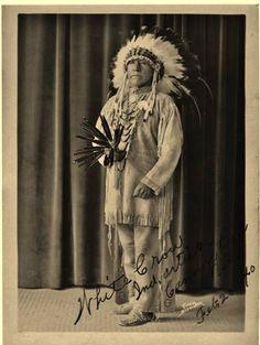 White Crow (aka Miles S. Horn) the son of Izaac Fox and White Calf near Cannon Ball, North Dakota - Arikara - 1940