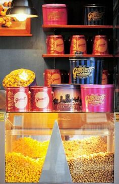 Garrett Popcorn CheeseCorn and CaramelCrisp... The best stuff you'll ever tastes!!!:)