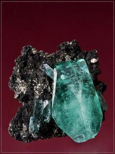 Phosphophyllite on Matrix  Unificada Mine, Cerro de Potosí, Bolivia