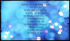 Runo elävästä elämästä