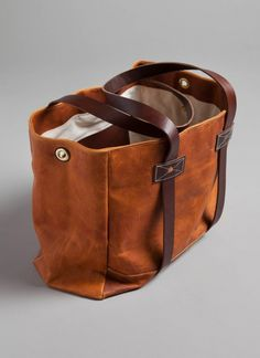 Leather Tote - Tobacco MXS