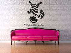 Wall Decal Vinyl Sticker Cheshire cat Smile Alice in Wonderland r1319 #HEAD