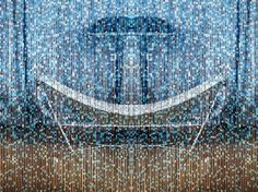 Aluminium chain curtain NIEVA DE NOCHE by KriskaDecor design Claire Davies