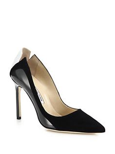 Manolo Blahnik - Copella Mixed-Media Point-Toe Pumps