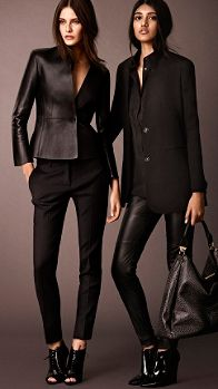 Pantalones de corte ajustado en mezcla de lana elástica | Burberry