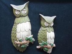Sexton Pair of Owls Wall Hangings Vintage Deco Retro Art Die Cast Aluminum | eBay