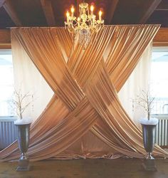 40 DIY wedding decor ideas - beautiful wedding decorations to make yourself - Hochzeitsdeko Ideen - Wedding Ceremony Backdrop, Wedding Venues, Wedding Ideas, Indoor Ceremony, Wedding Backdrops, Wedding Draping, Indoor Wedding, Curtain Backdrop Wedding, Backdrop Photobooth