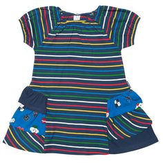 View complete range of quality baby and kids All from Polarn O. Smart, functional, playful children's clothes for newborn to age Free delivery available Ruffle Dress, Striped Dress, Girls Party Dress, Girls Dresses, Simple Dresses, Easy Dress, Playing Dress Up, Organic Cotton, Stripes