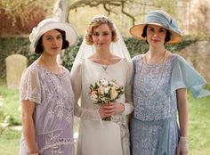 """The Costumes of """"Downton Abbey"""" (click through for several fabulous photos, including some great detail shots)"""