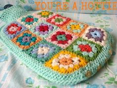 Granny Square Hot Water Bottle Cover PATTERN PDF DIY to purchase Hottie Cover by Alexandra MackeNZie | Felt