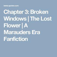 Chapter 3: Broken Windows | The Lost Flower | A Marauders Era Fanfiction