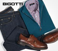 Looking refined, without being formal, the indigo jeans and brogue shoes are essential items for the effortless smart style. Can be worn with T-shirt or shirt, with blazer or zip sweater. Check out our promotions in our stores or on www.bigotti.ro! #Bigottiromania #Romania #moda #barbati #stilmasculin #ootd #ootdmen #styleoftheday #mixandmatch #effortlesssmart #smartcasual #mensoutfitinspiration #mensfashion #menswear #mensclothing #mensstyle #tinute #hainebarbati #pantofi #mensshoes #brogue Mens Attire, Smart Styles, Zip Sweater, Smart Casual, Stylish Men, Brogues, Romania, Indigo, Men's Fashion