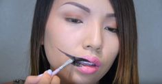 Stretched Lips Makeup Tutorial Makes For A Chilling Halloween Costume via LittleThings.com