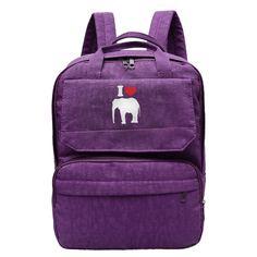 I Heart Love Elephant Little Boy s Backpack For Men Women Boy Girl Black  Daypack Canvas Travel 41bcb5f91f