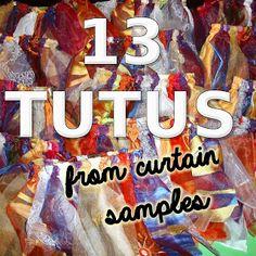 TUTORIAL: Thirteen tutus from curtain samples #diy #refashion SergerPepper.blogspot.it
