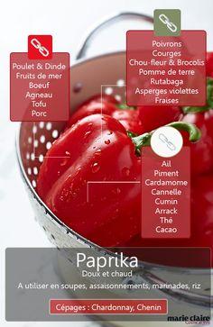 COMMENT UTILISER LE PAPRIKA EN CUISINE Le paprika fait partie de la famille des piments, même s'il ressemble à un poivron rouge. C'est un piment doux à connaître et à utiliser pour colorer vos plats. Découvrez les meilleures associations à faire avec.