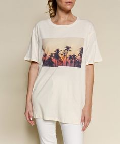 Tree Graphic, Graphic Tees, Palm Trees, Basement, Eco Friendly, Cotton, Shopping, Tops, Women