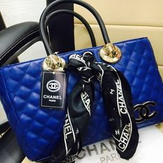 Chanel Exclusive Design Women Handbags - Blue  Brand :- Chanel Color :- Blue Origin :- Imported For :- Women Exclusive Collection
