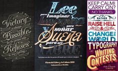 24 Beautiful and Creative Typography Graphic Designs for your inspiration - http://www.playmagazine.info/24-beautiful-creative-typography-graphic-designs-inspiration/