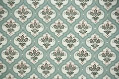 1940s Vintage Wallpaper by the Yard - Leaf Pattern in Geometric Design of Green and Brown by HannahsTreasures on Etsy https://www.etsy.com/listing/172439576/1940s-vintage-wallpaper-by-the-yard-leaf