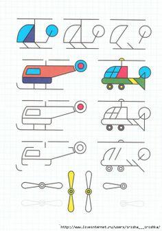 helikopters tekenen met kleuters