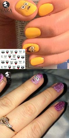 [Visit to Buy] 1 sheets New carton smile face Tips Design Nail Art Water Transfer Decals DIY Beauty Decal Nail Decoration Tools #XF1248 #Advertisement
