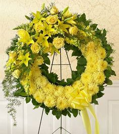 'Monochromatic Floral Wreath': Personalize your color - Carithers Flowers: Best Florist Atlanta, Unique Arrangements
