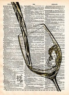 White Wine art, Wine splash art, pouring White wine, Gift for wine drinker. White wine pouring into a glass with a mouthwatering splash! These unique and original artwork are printed on authentic vint
