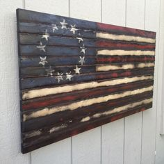 Hand Made Betsy Ross Wooden Flag