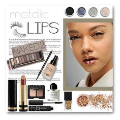 """""""Metallic lips contest."""" by camillatinedo ❤ liked on Polyvore featuring beauty, Christian Dior, In Your Dreams, Gucci, Bobbi Brown Cosmetics, NARS Cosmetics, Terre Mère, Urban Decay, Trish McEvoy and Byredo"""