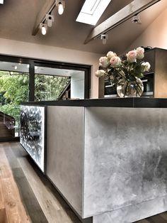 装飾アクリルパネル「Cancello Silver」施工事例/キッチンカウンター腰