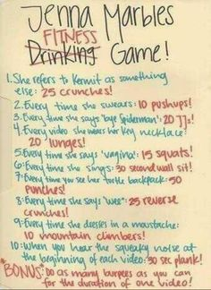 Jenna Marbles Fitness Game