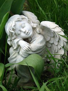 Stone angel. I'll get one of these sometime.: