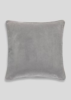 Large Velour Cushion x – Grey – Matalan Living Room Cushions, Velvet Cushions, Scatter Cushions, Cushions On Sofa, My Living Room, Living Room Decor, Living Area, Room Accessories, Decorative Accessories