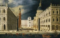 François de Nomé (called Monsù Desiderio) (French-Italian Baroque painter, 1593–after 1620) VENICE, A VIEW OF SAN MARCO FROM THE BACINO. Oil on canvas, 19 3/4 x 30 7/8 in (50 x 78.5 cm). Sotheby's, Important Old Master Paintings & Sculpture, January 2011, New York.
