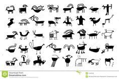 Native American Animal Symbol Ancient <b>animal</b> drawings and sy royalty free stock image <b></b>