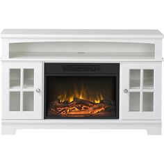 Flamelux - Zarate Media Fireplace - White