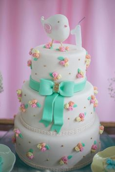 Pastel Hearts Stars Unicorn Cake unicorncake unicornbirthday