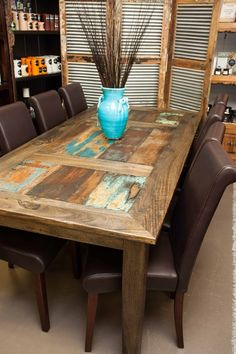 Beautiful Monsoon Old Door table. The name says it all, this gorgeous table is constructed from slat of timber derived from old Indian door!
