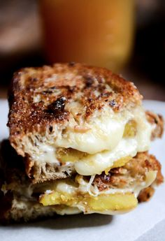 Caramelized Butternut, Roasted Garlic + Coconut Butter Grilled Cheese | howsweeteats.com