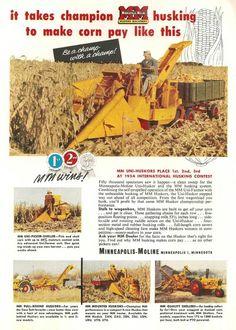 MINNEAPOLIS-MOLINE Corn Pickers Ad