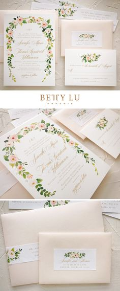 blush, peach, wedding invitations, elegant, bohemian, floral, fall wedding, invitations, simple, watercolor, gold #weddingideas #bohowedding #rusticwedding
