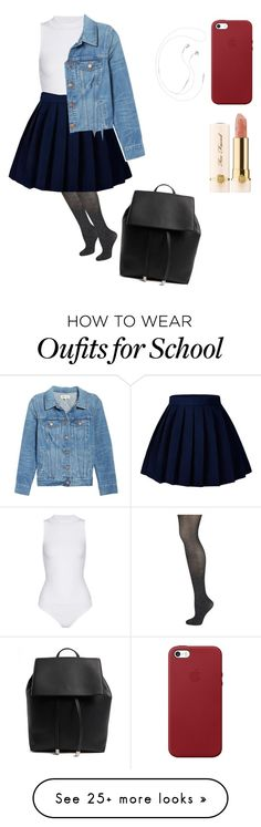""""""""""" by mpmiley on Polyvore featuring Wolford, Cushnie Et Ochs, Madewell, Forever 21, Apple and Too Faced Cosmetics"""