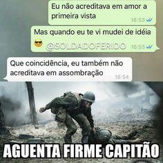 Read Força soldado from the story by Noah_lqa (S. Memes Humor Negro, Funny Images, Funny Photos, Army Jokes, Little Memes, Otaku Meme, Boyfriend Memes, Memes Status, Funny Cute
