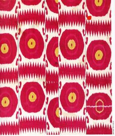 [Late 19th-century - Early 20th-century Central Asian (Bukhara, Uzbekistan) Ikat, Silk/Cotton, The Textile Museum  Murad Megalli Collection.