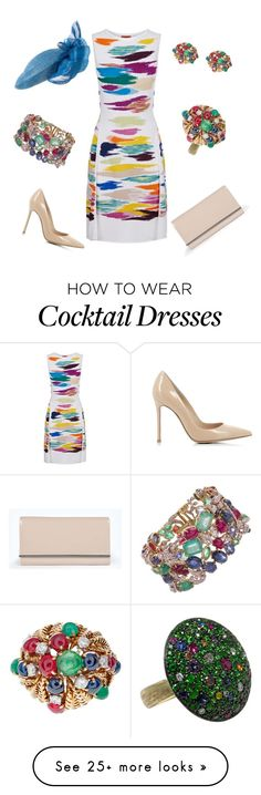"""Colorful Engagement"" by nmccullough on Polyvore featuring Missoni, Gianvito Rossi, Boohoo, Seaman Schepps, Jona, David Webb, women's clothing, women, female and woman"