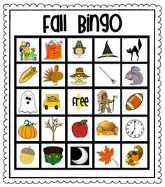 Fall Bingo For Kids from Pioneer Teacher on TeachersNotebook.com -  (33 pages)  - 30 DIFFERENT fall bingo cards for kids + calling cards for the teacher
